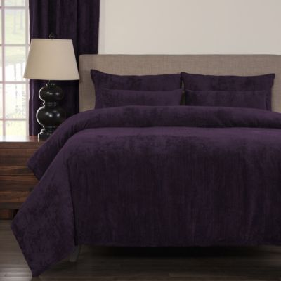 Sis Covers Draper Plum 6-Piece Queen Duvet Set