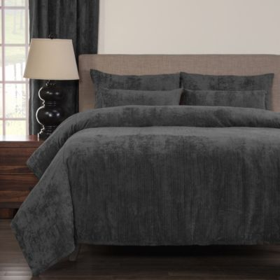 Sis Covers Draper Pewter 6-Piece Queen Duvet Set