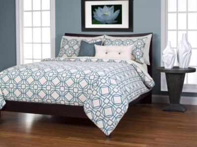 Sis Covers Nolo Turquoise 6 Piece King Duvet Set