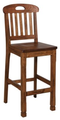 Sunny Designs Sedona Oak Slat-Back Bar Stool