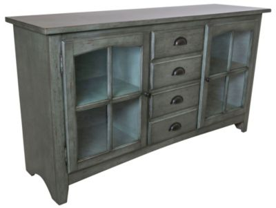 Sunny Designs Vintage Green 64-Inch TV Console