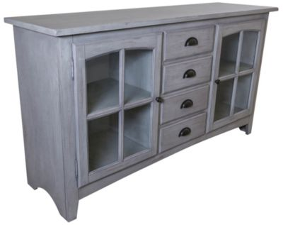 Sunny Designs Vintage Blue 64-Inch TV Console