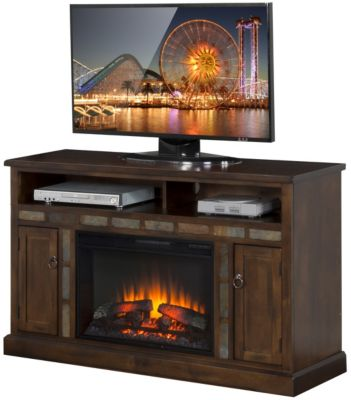 Sunny Designs Santa Fe TV Console with Fireplace
