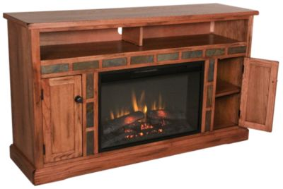 Sunny Designs Sedona TV Console with Fireplace - Sunny Designs Sedona TV Console With Fireplace Homemakers Furniture