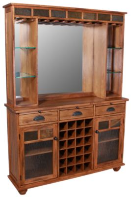 Sunny Designs Sedona Oak & Slate Back Bar