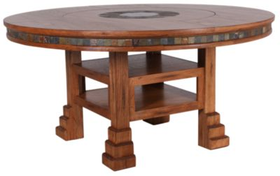 Sunny Designs Sedona Round Table With Lazy Susan