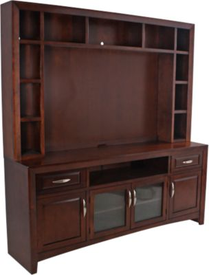 Sunny Designs Cappuccino TV Console & Hutch