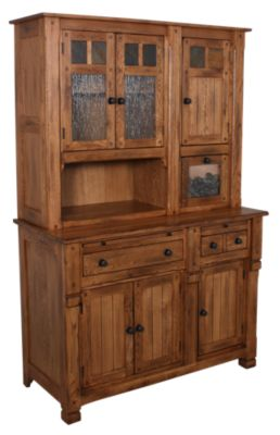 Sunny Designs Sedona Oak China Hutch & Buffet