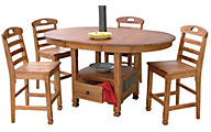 Sunny Designs Sedona Counter-Height 5-Piece Dining Set