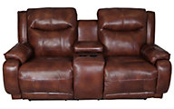 Southern Motion Velocity Leather Reclining Loveseat
