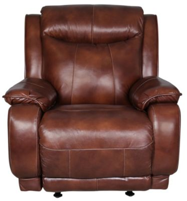 Southern Motion Velocity Leather Rocker with Power Headrest