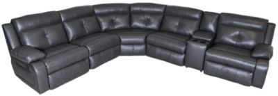 Southern Motion Dash 6-Piece Leather Reclining Sectional