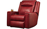 Southern Motion Curve Leather Power Wall Recliner