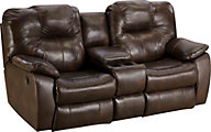 Southern Motion Avalon Leather Reclining Sofa with Console