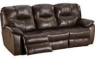 Southern Motion Avalon Leather Power Reclining Sofa with Table