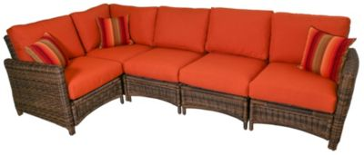 South Sea Rattan Del Ray 5-Piece Outdoor Sectional
