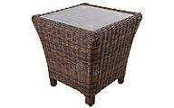 South Sea Rattan Del Ray All-Weather Wicker Outdoor Side Table