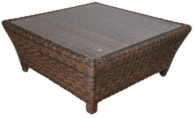 South Sea Rattan Del Ray All-Weather Wicker Outdoor Coffee Table