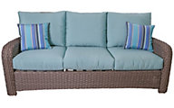 South Sea Rattan St. Tropez All-Weather Wicker Outdoor Sofa