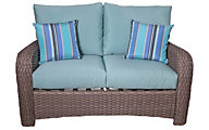 South Sea Rattan St. Tropez All-Weather Wicker Outdoor Loveseat