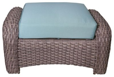 South Sea Rattan St. Tropez All-Weather Wicker Outdoor Ottoman
