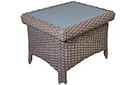 South Sea Rattan St. Tropez All-Weather Wicker Outdoor Side Table