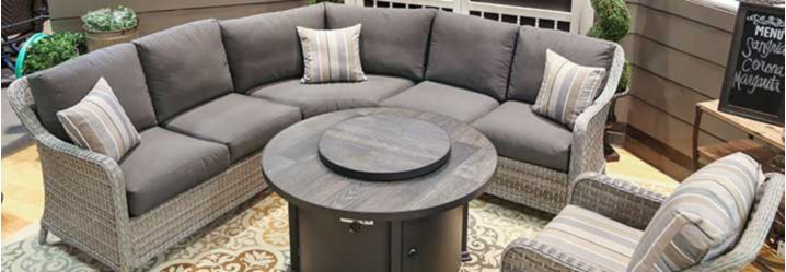 patio and outdoor chairs, sectionals and seating sets