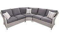 South Sea Rattan Mayfair 3-Piece Outdoor Sectional