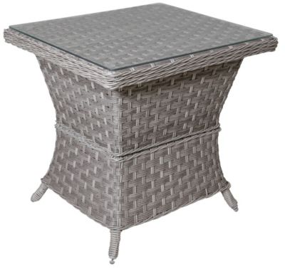 South Sea Rattan Mayfair All-Weather Wicker Outdoor Side Table