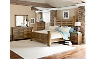 Standard Furniture Montana 4-Piece King Poster Bedroom Set