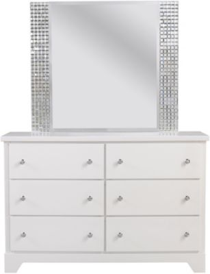 Standard Furniture Marilyn White Dresser with Mirror