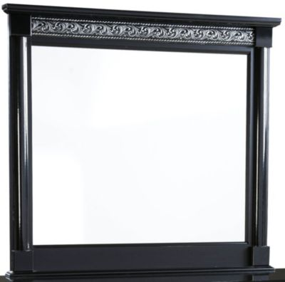 Standard Furniture Venetian Black Mirror