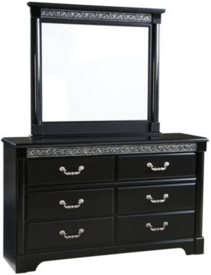 Standard Furniture Venetian Black Dresser with Mirror