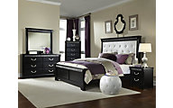 Standard Furniture Venetian Black 4-Piece Queen Bedroom Set