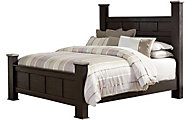 Standard Furniture Stonehill Dark Queen Poster Bed