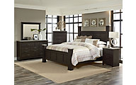 Standard Furniture Stonehill Dark King 4-Piece Bedroom Set