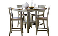 Standard Furniture Pendleton Sage Counter Table & 4 Stools