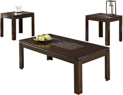 Standard Furniture Sparkle Coffee Table & 2 End Tables