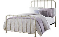 Standard Furniture Tristen White Full Metal Bed