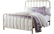 Standard Furniture Tristen White King Metal Bed