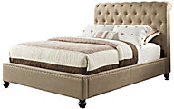 Standard Furniture Stanton Tan Queen Upholstered Bed