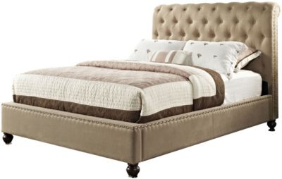 Standard Furniture Stanton Tan King Upholstered Bed