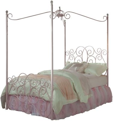 Standard Furniture Princess Pink Twin Canopy Bed