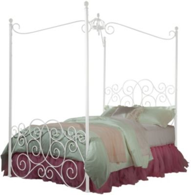 Standard Furniture Princess White Full Canopy Bed