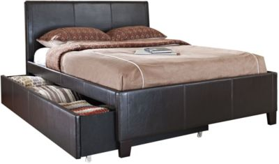 Standard Furniture New York Brown Full Upholstered Trundle Bed