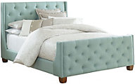 Standard Furniture Carmen Blue Queen Upholstered Bed