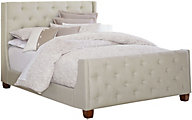 Standard Furniture Carmen Light Gray Queen Upholstered Bed