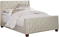 Standard Furniture Carmen Light Gray King Upholstered Bed
