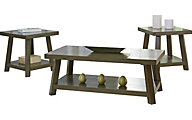 Standard Furniture Omaha Gray Coffee Table & 2 End Tables