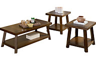 Standard Furniture Omaha Brown Coffee Table & 2 End Tables